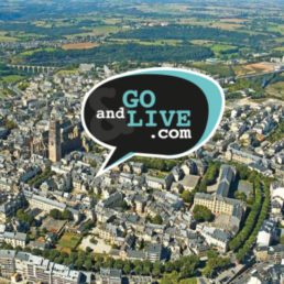 photo de la ville de Rodez avec le logo Go and Life