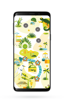 Écran jeu de piste Tourisme Ouest Réunion