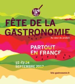 campagne affiche de la fete de la gastronomie 2017