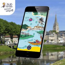 Écran de jeu de piste pour Sud Vendée